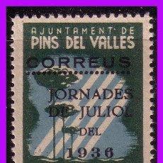 Sellos: BARCELONA PINS DEL VALLÉS GUERRA CIVIL, FESOFI Nº 9 * *. Lote 99395695