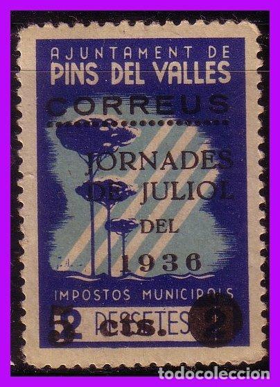 BARCELONA PINS DEL VALLÉS GUERRA CIVIL, FESOFI Nº 10 * * (Sellos - España - Guerra Civil - De 1.936 a 1.939 - Nuevos)
