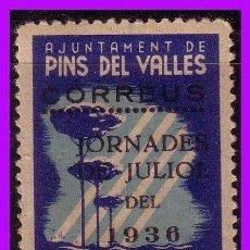Sellos: BARCELONA PINS DEL VALLÉS GUERRA CIVIL, FESOFI Nº 10 * *. Lote 99395719