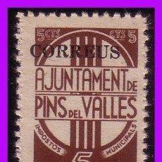 Sellos: BARCELONA PINS DEL VALLÉS GUERRA CIVIL, FESOFI Nº 38 * *. Lote 99395763