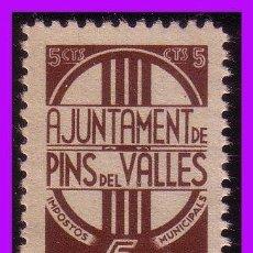 Sellos: BARCELONA PINS DEL VALLÉS GUERRA CIVIL, FESOFI Nº 38I * *. Lote 99395783