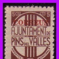 Sellos: BARCELONA PINS DEL VALLÉS GUERRA CIVIL, FESOFI Nº 39 * *. Lote 99396575
