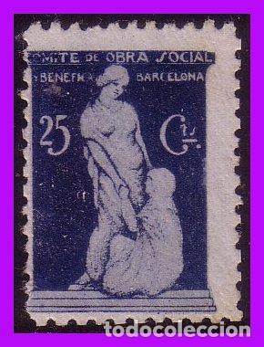 BARCELONA BARCELONA GUERRA CIVIL, FESOFI Nº 116 (*) (Sellos - España - Guerra Civil - De 1.936 a 1.939 - Nuevos)