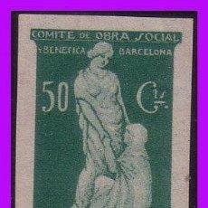 Stamps - Barcelona BARCELONA Guerra Civil, FESOFI prueba 50 cts verde (*) - 99422483