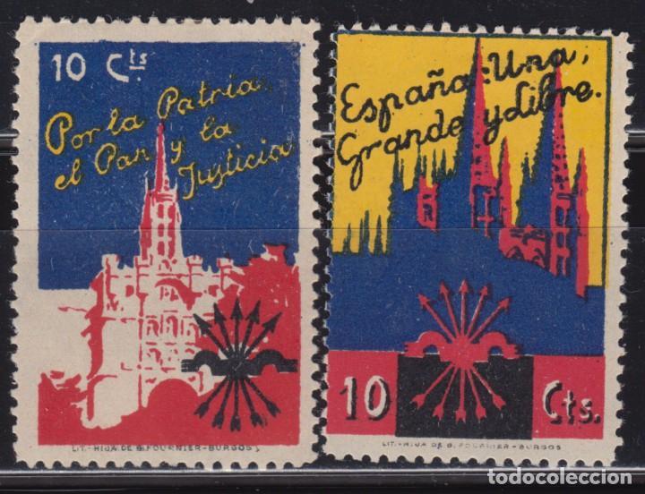 POR LA PATRIA Y LA JUSTICIA , , 10 CTS , (Sellos - España - Guerra Civil - De 1.936 a 1.939 - Nuevos)