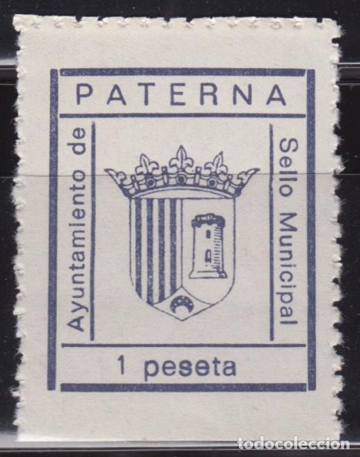 AYUNTAMIENTO DE PATERNA , SELLO MUNICIPAL 1 PTS (Sellos - España - Guerra Civil - De 1.936 a 1.939 - Nuevos)