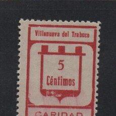 Sellos: VILLANUEVA DEL TRABUCO, 5 CTS, SIN GUIONES, DOBLE DENTADO HORIZONTAL, VER FOTO. Lote 99513163