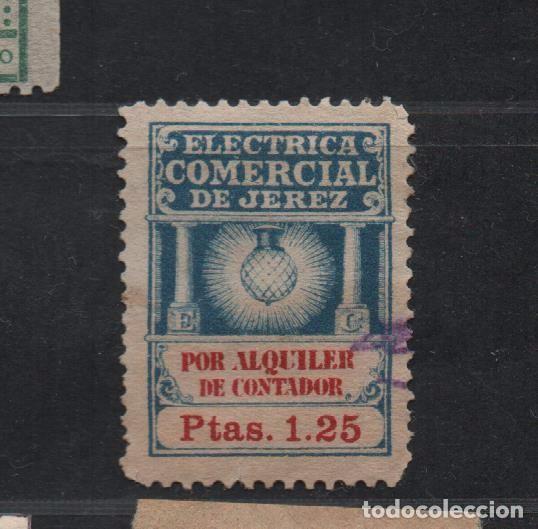JEREZ, 1,25 PTAS, ELECTRICA COMERCIAL POR ALQUILER DE CONTADOR,, VER FOTO (Sellos - España - Guerra Civil - De 1.936 a 1.939 - Usados)