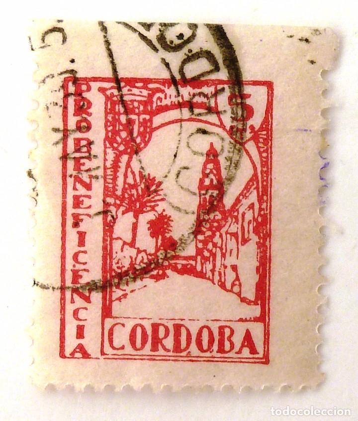 PRO BENEFICENCIA CORDOBA. 5 CTS. (Sellos - España - Guerra Civil - Beneficencia)