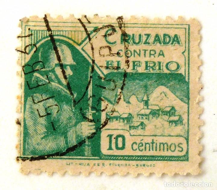 CRUZADA CONTRA EL FRIO. 10 CTS (Sellos - España - Guerra Civil - Beneficencia)