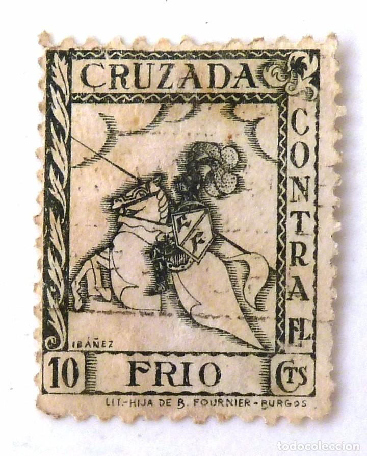 CRUZADA CONTRA EL FRIO. 10 CTS. (Sellos - España - Guerra Civil - Beneficencia)