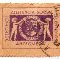 Sellos: ASISTENCIA SOCIAL 5 CTS. ANTEQUERA.. Lote 99758027