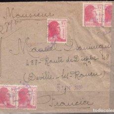 Sellos: CARTA CERTIFICADA A FRANCIA , MATASELLOS CORREO DE CAMPAÑA SECCIÓN TURIA , C.C. 22 . Lote 99767655