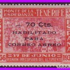 Sellos: CANARIAS, TENERIFE GUERRA CIVIL FESOFI Nº 36 * *. Lote 99798355