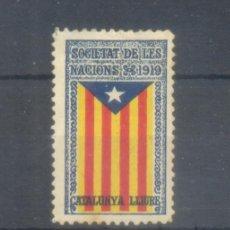 Sellos: 1919. SOCIETAT DE LES NACIONS. CATALUNYA LLIURE. * S/V.. Lote 100205459