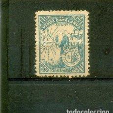 Sellos: 1899. REUS. VISCA CATALUNYA. AVANT. 1R MEETING. ANTIGUO SELLO REGIONALISTA. S/V.. Lote 100292079