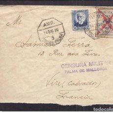 Sellos: SOLLER AMBULANTE MATASELLO - SELLO PRO-PARO MALLORCA AÑO DE 1936 - GUERRA CIVIL CENSURA. Lote 100515583