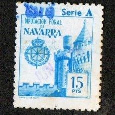 Sellos: SELLO LOCAL DIPUTACION FORAL DE NAVARRA 15 PESETAS. Lote 100648763