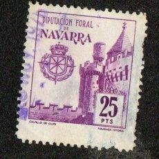 Sellos: SELLO LOCAL DIPUTACION FORAL DE NAVARRA 25 PESETAS. Lote 100648855