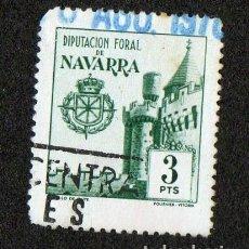 Sellos: SELLO LOCAL DIPUTACION FORAL DE NAVARRA 3 PESETAS. Lote 100649143