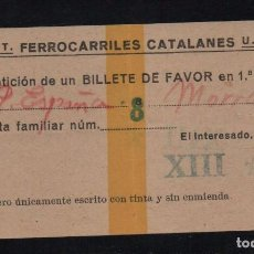 Sellos: C.N.T. U.G.T. FERROCARRILES CATALANES- XIII, VER FOTOS. Lote 100906495