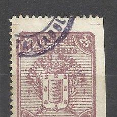 Sellos: C161-SELLO FISCAL LOCAL VALLADOLID ARBITRIO MUNICIPAL 1899 AYUNTAMIENTO ARBITRIOS,BONITO,ESCASO.ALTI. Lote 100927327