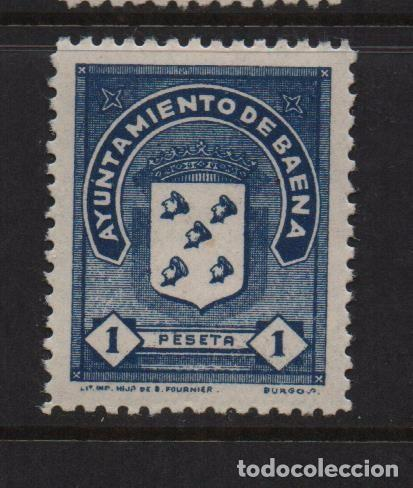 BAENA, 1 PTA, SELLO MUNICIPAL, VER FOTO (Sellos - España - Guerra Civil - De 1.936 a 1.939 - Usados)