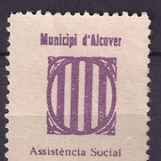 Sellos: GUERRA CIVIL SELLO LOCAL MUNICIPI D' ALCOVER 5 CENTIMS LILA * 001LOT . Lote 101212047