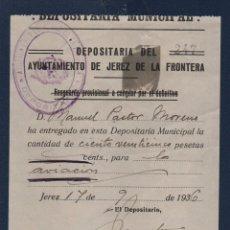 Sellos: JEREZ DE LA FRONTERA, 125 PTAS, PARA LA AVIACION, VER FOTO VER FOTO. Lote 101365375