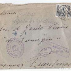 Sellos: SOBRE DE GIJÓN. ASTURIAS. DOBLE CENSURA MILITAR DE GIJÓN Y DE AUDITORÍA DEL EJÉRCITO. 1938. MUY RARA. Lote 101386067