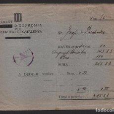 Sellos: CARTA, DEPARTAMENT D ECONOMIA DE LA GENERALITAT DE CATALINYA ,VER FOTOS. Lote 101432799