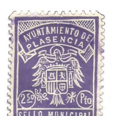 Sellos: AYUNTAMIENTO DE PLASENCIA.2,50PTS. SELLO MUNICIPAL. Lote 101622299