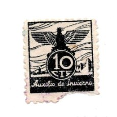 Sellos: VIÑETA AUXILIO DE INVIERNO , 10 CTS. Lote 109207362