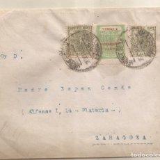 Sellos: 1936 SOBRE CIRCULADO DE JEREZ A ZARAGOZA 11NOV. Lote 101652679