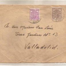 Sellos: SOBRE CIRCULADO DE BENAVENTE A VALLADOLID FRANQUEO 10C MARRÓN MOVIL ESPECIAL Y 20C LILA. Lote 101664027