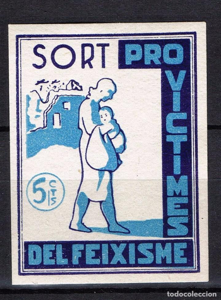 Sellos: Guerra Civil Sello Local Sort Pro victimes del feixisme 5 cts. * 001LOT - Foto 1 - 101691067