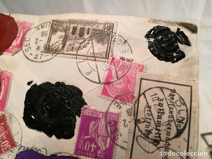Sellos: SOBRE ALEMANIA 1939 CON SELLOS LACRE Y TIMBRES MATASELLOS EPOCA--JOAQUIN CASAMITJANA --RARO - Foto 27 - 101760331