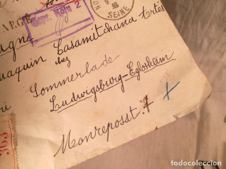 Sellos: SOBRE ALEMANIA 1939 CON SELLOS LACRE Y TIMBRES MATASELLOS EPOCA--JOAQUIN CASAMITJANA --RARO - Foto 29 - 101760331