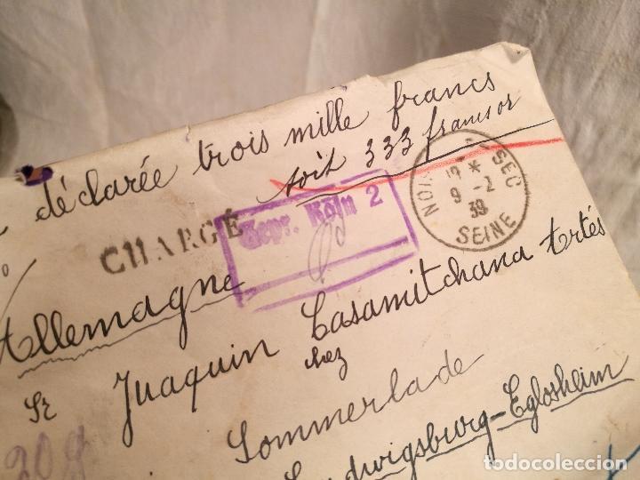 Sellos: SOBRE ALEMANIA 1939 CON SELLOS LACRE Y TIMBRES MATASELLOS EPOCA--JOAQUIN CASAMITJANA --RARO - Foto 30 - 101760331
