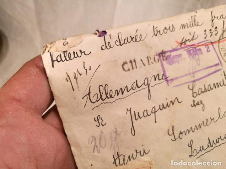 Sellos: SOBRE ALEMANIA 1939 CON SELLOS LACRE Y TIMBRES MATASELLOS EPOCA--JOAQUIN CASAMITJANA --RARO - Foto 31 - 101760331