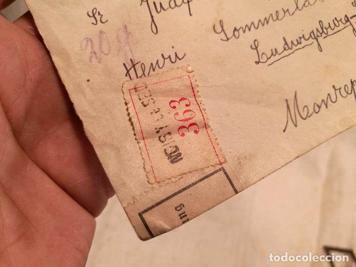 Sellos: SOBRE ALEMANIA 1939 CON SELLOS LACRE Y TIMBRES MATASELLOS EPOCA--JOAQUIN CASAMITJANA --RARO - Foto 32 - 101760331