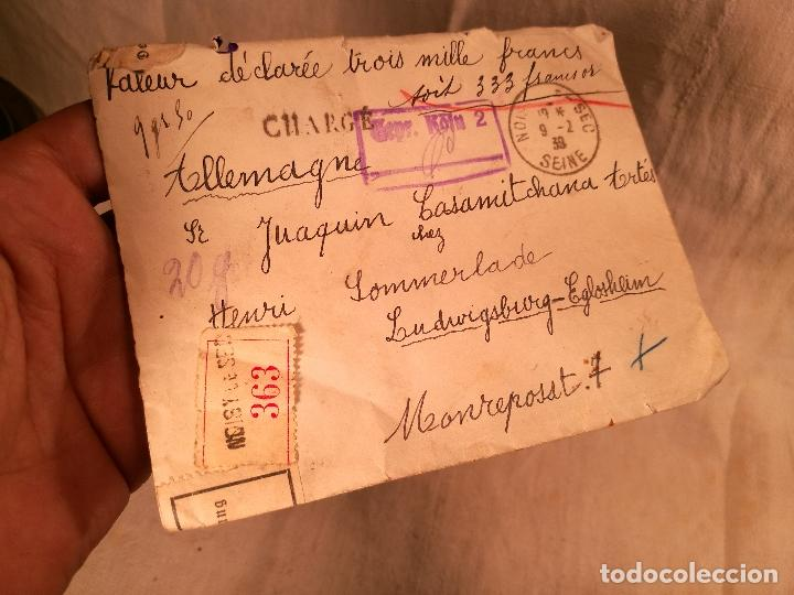 Sellos: SOBRE ALEMANIA 1939 CON SELLOS LACRE Y TIMBRES MATASELLOS EPOCA--JOAQUIN CASAMITJANA --RARO - Foto 33 - 101760331
