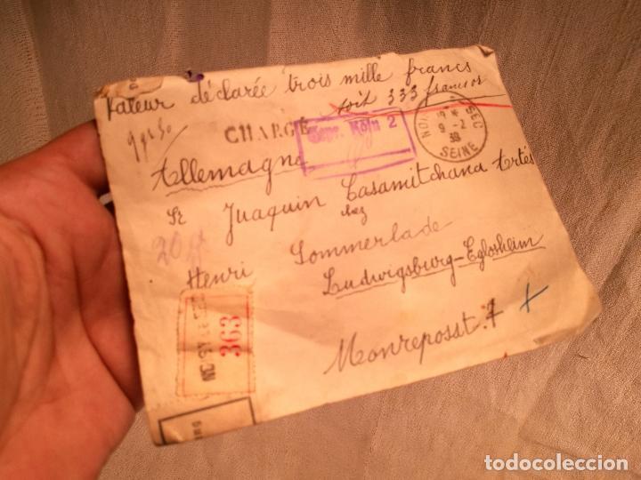 Sellos: SOBRE ALEMANIA 1939 CON SELLOS LACRE Y TIMBRES MATASELLOS EPOCA--JOAQUIN CASAMITJANA --RARO - Foto 34 - 101760331