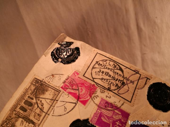Sellos: SOBRE ALEMANIA 1939 CON SELLOS LACRE Y TIMBRES MATASELLOS EPOCA--JOAQUIN CASAMITJANA --RARO - Foto 40 - 101760331