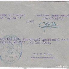 Sellos: F22-8-MILICIA FALANGE. CARTA MARCA JEFATURA PROVINCIAL MANDO TARRAGONA. Lote 101788663