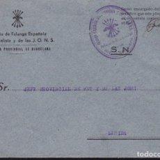 Sellos: F22-11-MILICIA FALANGE. CARTA JEFATURA PROVINCIAL MILICIA BARCELONA. Lote 101788827