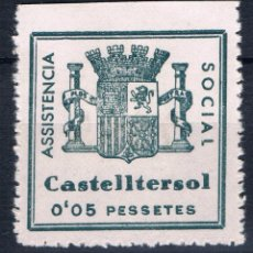 Sellos: GUERRA CIVIL SELLO LOCAL CASTELLTERSOL ASSISTENCIA SOCIAL 0,05 PESETES * 001LOT . Lote 101915587