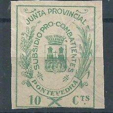 Sellos: R25/ ESPAÑA LUGO, LOCALES PATRIOTICOS, NUEVOS **. Lote 101961895