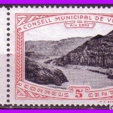 Sellos: TARRAGONA, VINEBRE, GUERRA CIVIL FESOFI Nº 3 * *. Lote 102465283