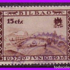 Sellos: VIZCAYA, BILBAO, GUERRA CIVIL, FESOFI Nº 19 (O). Lote 102470807
